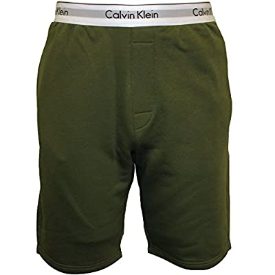 Calvin Klein Classic Logo Waist Men's Tracksuit Shorts, Khaki