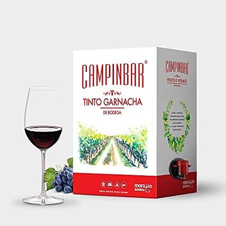 Bag in box Vino Tinto Garnacha de Bodega de Campinbar ® (Pack 3 cajas de 5 Litros)