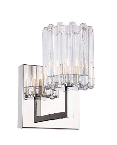 Woodbridge Lighting 18651CHR-C10490 18651CHR Candice 1-Light Bath/Wall with Halogen Bulb