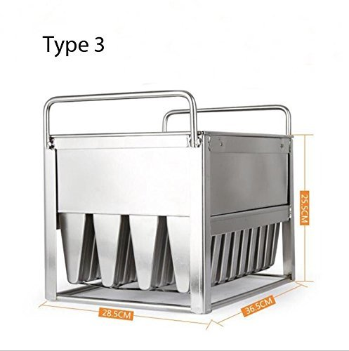 40pieces Stainless Steel Ice Cream Molds ice pop molds with stick holder Food Class 6 different size for you to select by Ykchanger (Image #4)