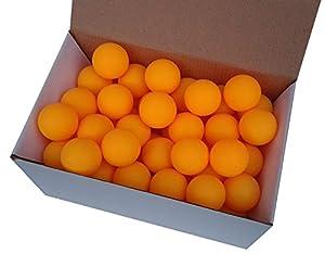75 Tischtennisbälle 38mm ohne Aufdruck orange stabiles Material