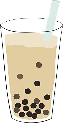Cute simple bubble boba tea drink cartoon emoji vinyl decal sticker 4