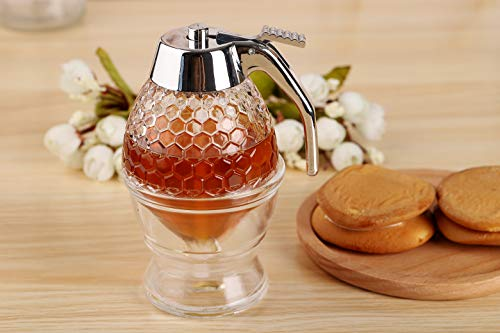 Acrylic Honey Dispenser with Coaster by Hunnibi (Image #2)