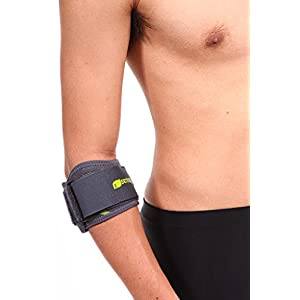SENTEQ Elbow Strap Support Brace - Medical Grade and FDA Approved. Tennis & Golfer's Elbow Strap Band - Relieves Tendonitis and Forearm Pain. (SQ1 H009)