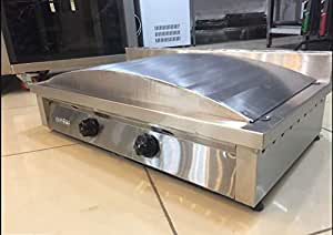 NATURAL GAS Countertop Stainless Steel Turkish Cuisine GOZLEME Commercial or for Home Use OVAL Saj Bread Tawa Crepe Roti Pan Chapati Bread Tortilla Pita Papad Maker Warmer Grill Griddle Machine