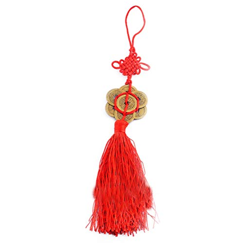 Feng Shui Knot Bracelet - Feng Shui Eight Coins with Mystic Knot Charm for Wealth Enhance+ Free Red String Bracelet Y1216