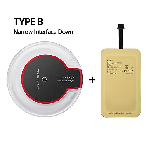 Wireless charging kit, Hengxin charger pad for zte grand max google devices nexus 6 phone HTC ONE X9 E9+ Vivo X1 DESIRE 700/DESIRE 10 PRO, Meizu M5/M5 Note/M5c/M5s/U20/M3 (charger & type b receiver)
