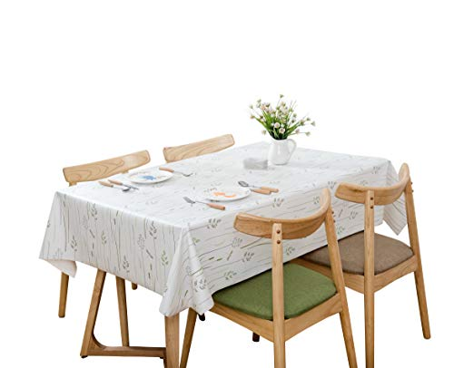 Lavin Tablecloth PVC Wipe Clean Table Cloth Waterproof Oil Cloth Heavy Duty Vinyl Table Cover Rectangle Oilproof Satin-resistant Home Decoration ()