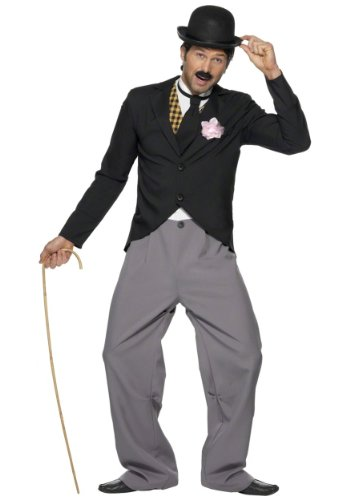 Smiffys Men's 1920's Star Costume with Jacket Trousers Mock Waistcoat and Tie, Multi, Medium for $<!--$40.19-->