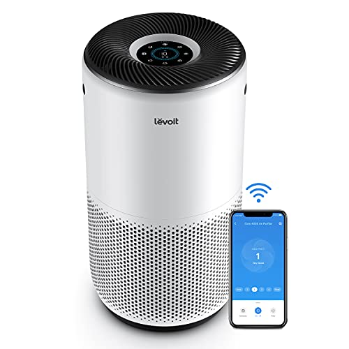 LEVOIT Air Purifiers for Home Large Room, Smart WIFI and Alexa Control, H13 True HEPA Filter for Allergies, Pets, Smoke…