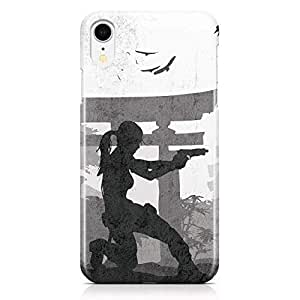 Loud Universe Tomb Raider Action iPhone XR Case Lara Croft iPhone XR Cover with 3d Wrap around Edges