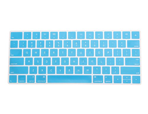 Silicone Skin Zebra (COOSKIN Silicone Colorful Keyboard Cover Protector Skin for Apple Magic Keyboard (MLA22LL/A), After 2015 November US Layout (Blue))