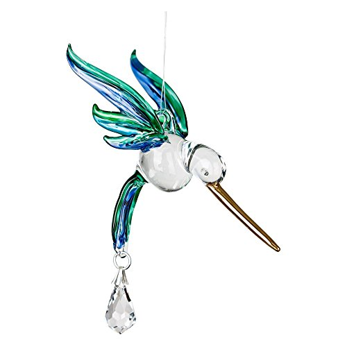 Woodstock Chimes Rainbow Maker - Fantasy Glass Hummingbird, Peacock by Woodstock Chimes
