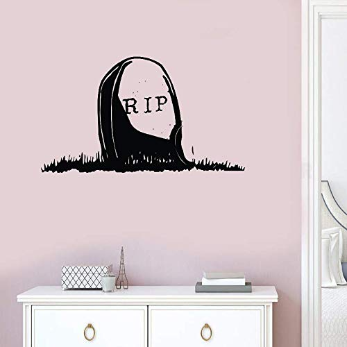 Seafti Lettering Words Wall Mural DIY Removable Sticker Decoration Rip Gravestone for Halloween Day]()