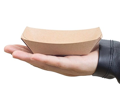 Small (1/4 Lb.) Kraft Paper Food Tray | 25 Ct by PAVILIA (Image #1)