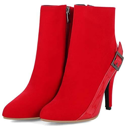 Ye Pour Bottes Rouges Classiques Femmes Synthtiques T0rTwZxq4