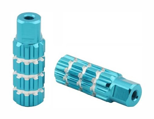 Alloy Pegs 701 24/26t W=1.10'' l=3'' Blue. Pegs for bike, bicycles, bmx, lowrider, mountain bike, beach cruiser by Lowrider (Image #1)