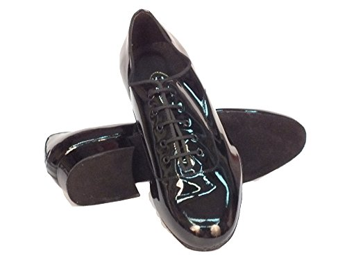 Vitiello Dance Shoes Men's Classic vernice standard Dance Shoes Black Nero Classic vernice nero yvKWS