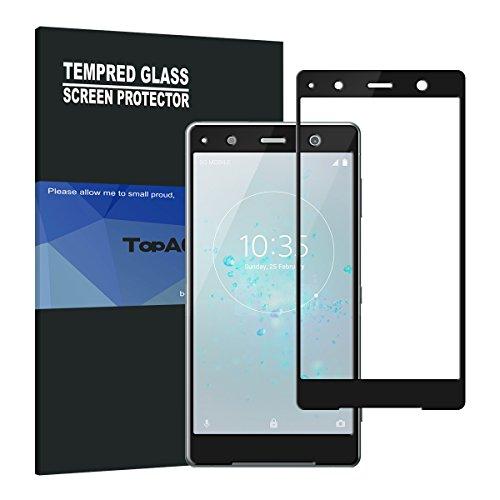 すべきバスト顕微鏡TopACE Xperia XZ2 Premium ガラスフィルム Xperia XZ2 Premium フィルム 硬度9H 3D 耐衝撃 撥油性 超耐久 耐指紋 飛散防止処理保護フィルム 【全画面貼る可能】液晶画面全面タイプ Xperia XZ2 Premium対応 (ブラック)