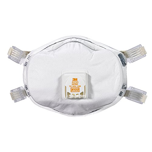 3M 8233PA1-A-PS Lead Paint Removal Valved Respirator by 3M (Image #1)