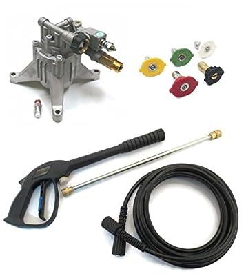 "2800 psi 7/8"" Shaft Power Pressure Washer Water Pump & Spray Kit (Gun, Wand / Lance, Hose)"