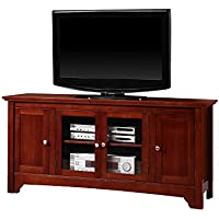 52 Solid Hard Wood TV Media Stand Console , Cherry