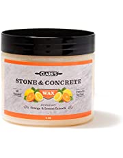 Soapstone Slate and Concrete Wax (6 Ounce) by CLARK'S   Enriched with Lemon & Orange Oils   Made with Natural Beeswax and Carnauba Wax   Stone Countertop Wax