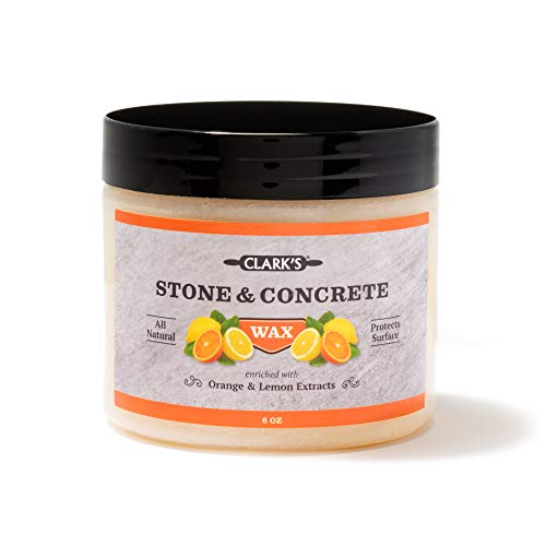 - CLARK'S Soapstone Slate and Concrete Wax (6 ounce) | Enriched with Lemon & Orange Oils | Made with Natural Beeswax and Carnauba Wax | Stone Countertop Wax