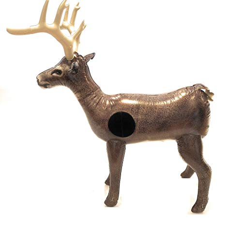 """Nxt Generation Jumbo Deluxe 58"""" Life Sized Painted 3D Inflatable Deer Target - Archery Target Practice - Inflatable Buck -Suitable for Indoor and Outdoor Play- for Hook and Loop Tipped Foam Darts"""