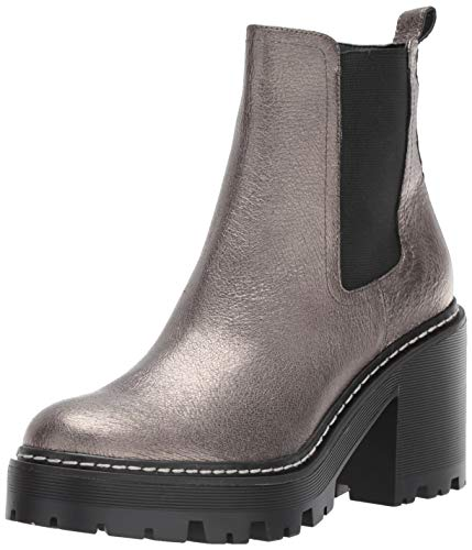 KENDALL + KYLIE Women's JETT Fashion Boot, Pewter Multi Leather, 8.5 M US