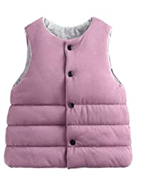 Roffatide Reversible Waistcoat Cotton Vest Jacket Coat Sleeveless Kid Girls Boys