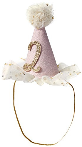 Mud Pie Toddler Girls Birthday Party Head Band Hat, Two,  2 Toddler