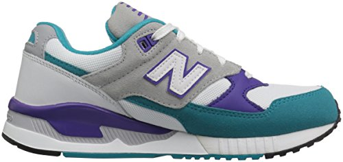 New Balance Womens W530 Classic Running Fashion Sneaker Blu / Verde Acqua / Viola