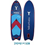 DIMPLEYA-SUP-Bordo-di-Pala-Impostato-29m-SUP-Gonfiabile-in-PVC-con-Pump-Up-Paddle-Colore-Blu-Dimensioni-290x81x15