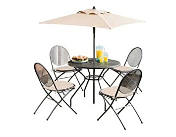 Brand New 4 Seater Mesh Patio Furniture Set Black Cheapest On