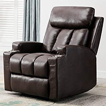 Amazon Com Oversized Leather Cover Recliner Lounge