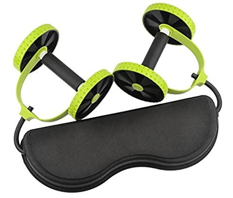 Awesome Exercise Fitness Health Care Core Dual Wheels Ab Roller Pull Rope Abdominal Waist Slimming Trainer Workout (Push Up Bar Nike)