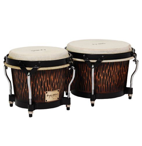 Tycoon Percussion STBS B CO Siam Oak Bongo Drum - Chiseled Orange by Tycoon Percussion