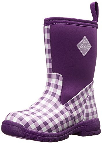MuckBoots Breezy Mid Multi Purpose Boot (Toddler/Little Kid/Big Kid), Purple Gingham, 12 M US Little Kid (Dallas Cowboys Winter Boots)