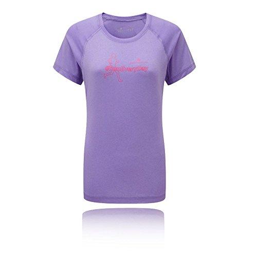 Ronhill Aspiration Silhouette Women's Manga Corta T-Shirt - AW16 Morado