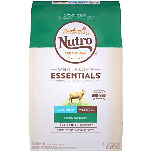 NUTRO WHOLESOME ESSENTIALS Natural Adult Large Breed Dry Dog Food Lamb & Rice Recipe, 30 lb. Bag