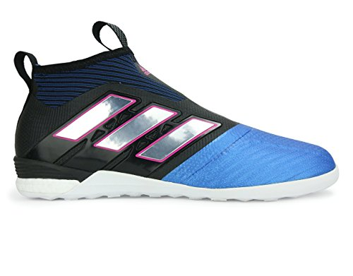 Adidas Mens Asso Tango 17+ Puro Controllo Indoor Scarpe Da Calcio Nero / Bianco / Blu Scarpe Da Calcio