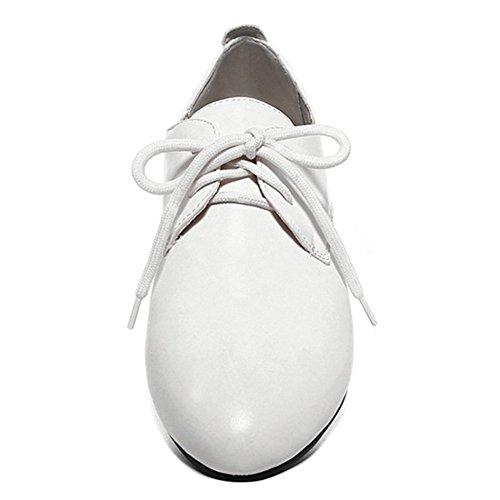 Scarpe Da Donna Sfilate Comode Scarpe Tacco Alto Mocassini Bianche