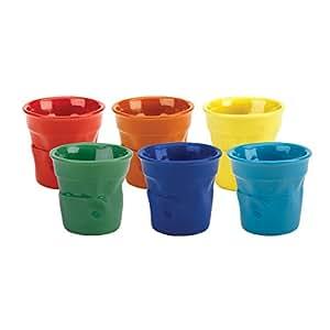 Bialetti Colorati - Tazas de café en forma de vaso de plástico (6 piezas), varios colores
