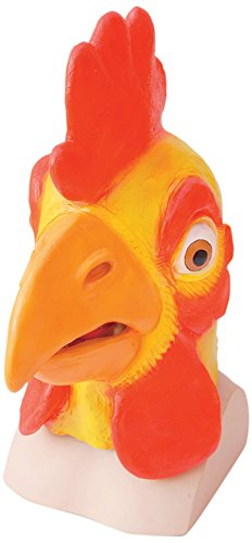 Rubber Chicken Mask Over Head Farm Animal Fancy Dress (máscara/careta)