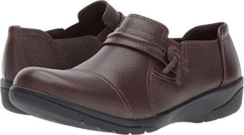 (Clarks Women's Cheyn Madi Loafer, Dark Brown Tumbled Leather, 8.5 M)