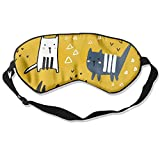 HSHISKH Men And Women Hand Drawn Cats Mask For Sleeping 3d, Hot Ice Cover Sleep Blackout Breathable Sleeping Goggles