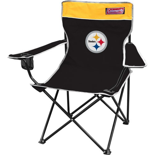 NFL Pittsburgh Steelers Coleman Folding Chair With Carrying Case, Outdoor Stuffs