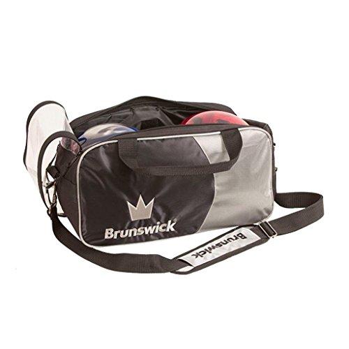 Brunswick Crown Double Tote Bowling Bag, Silver by Brunswick