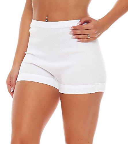 3 Paquete mujeres de la cintura Pagen resbalones (bragas, calzoncillos) Nº 406 Blanco